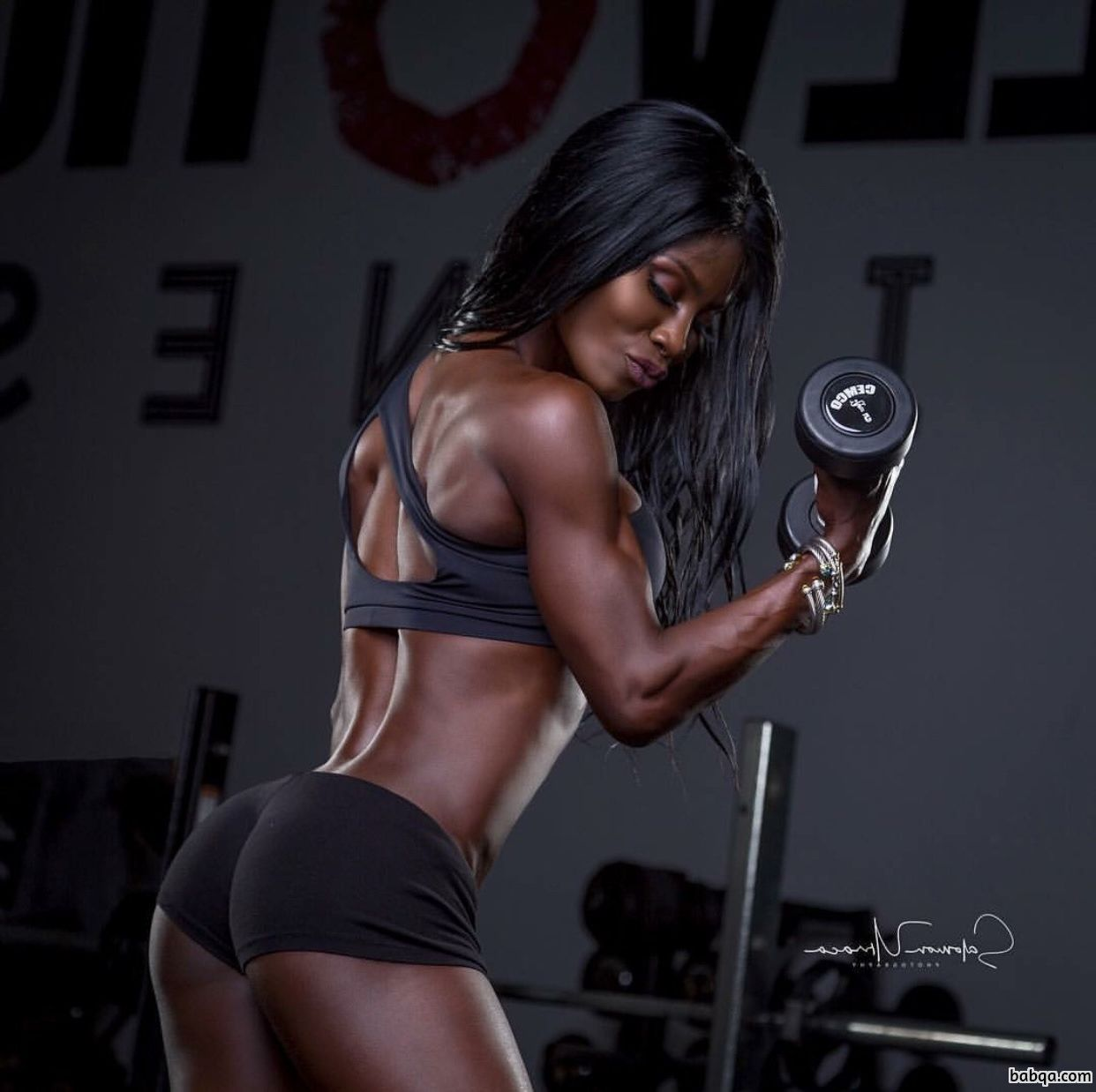 girl showing their ass repost from womenfitnessmodels – squats with weights for bum